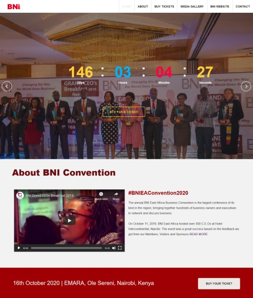 BNI Convention – East Africa's Biggest Business Convention